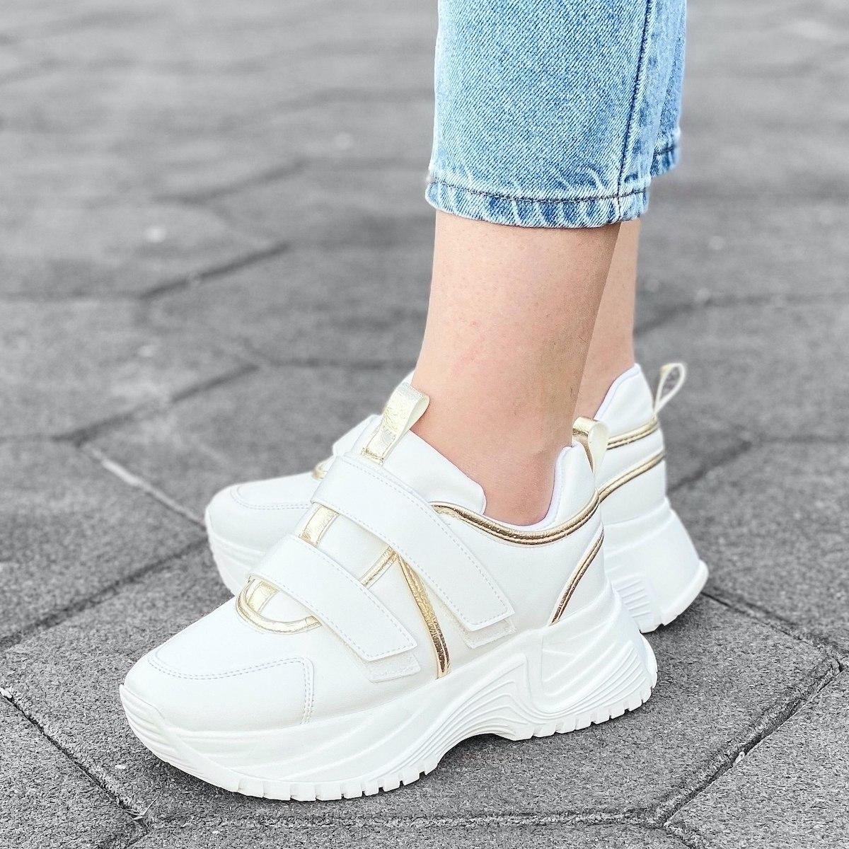 Women's High Sole Velcro...
