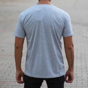 Men's Oversized Basic T-Shirt Gray Mv Premium Brand - 3