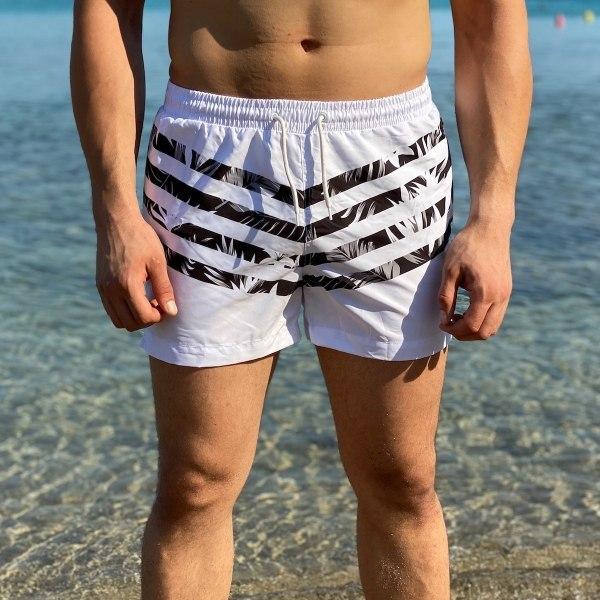 Men's Boho Striped Swimming...