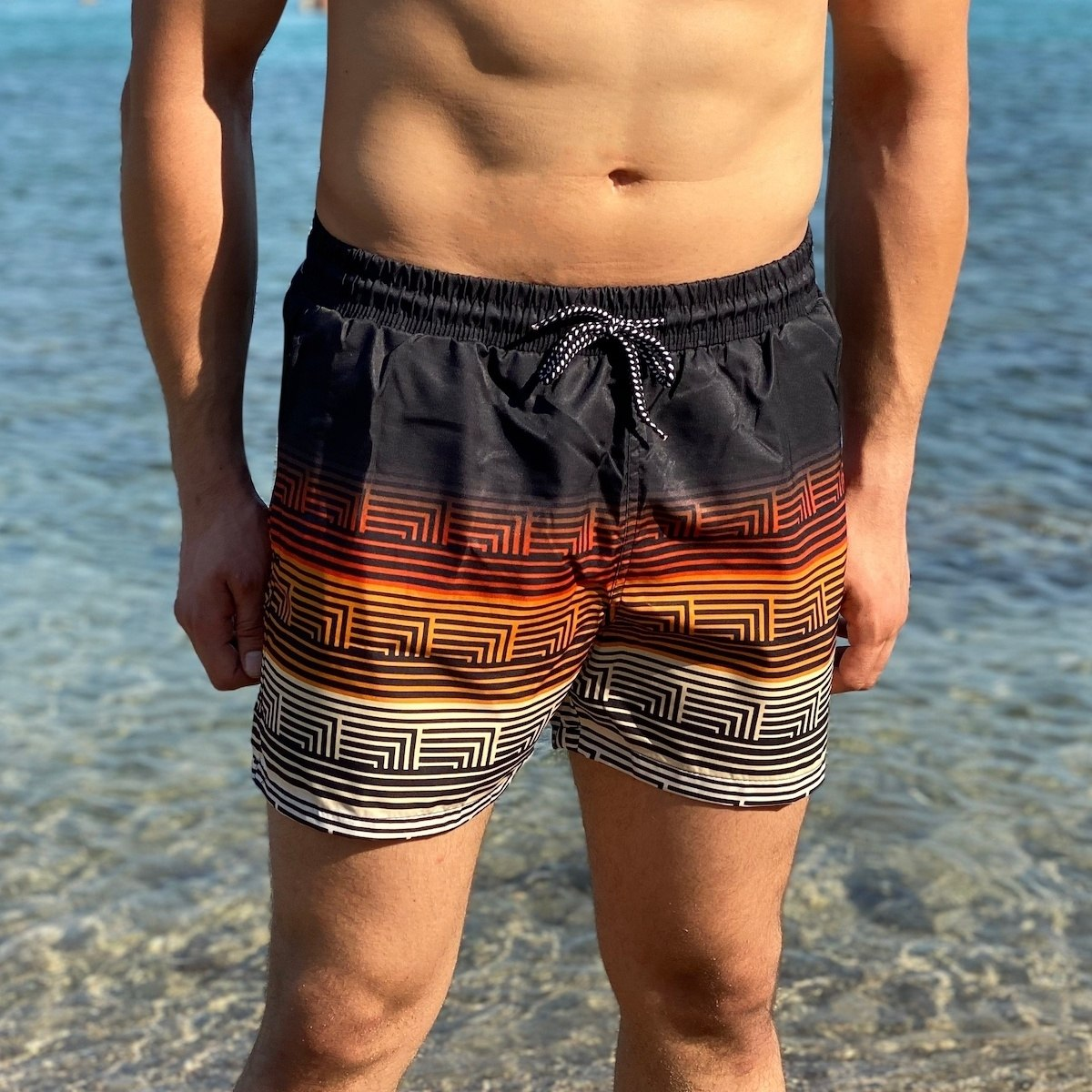 Men's Inca Striped Swimming...