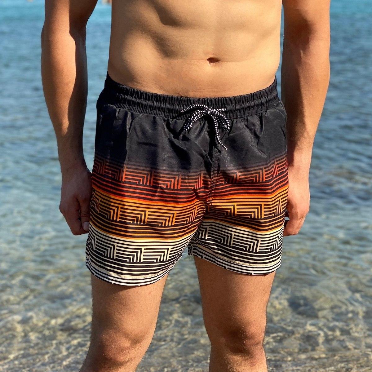 Men's Inca Striped Swimming Short