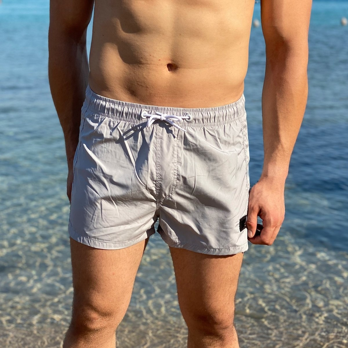 Men's Swimming Short In Stone