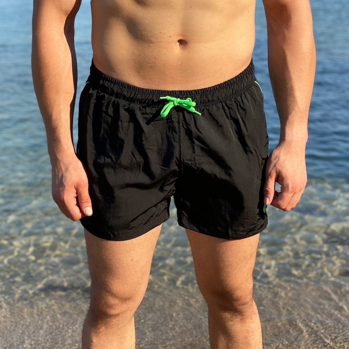 Men's Swimming Short In Black