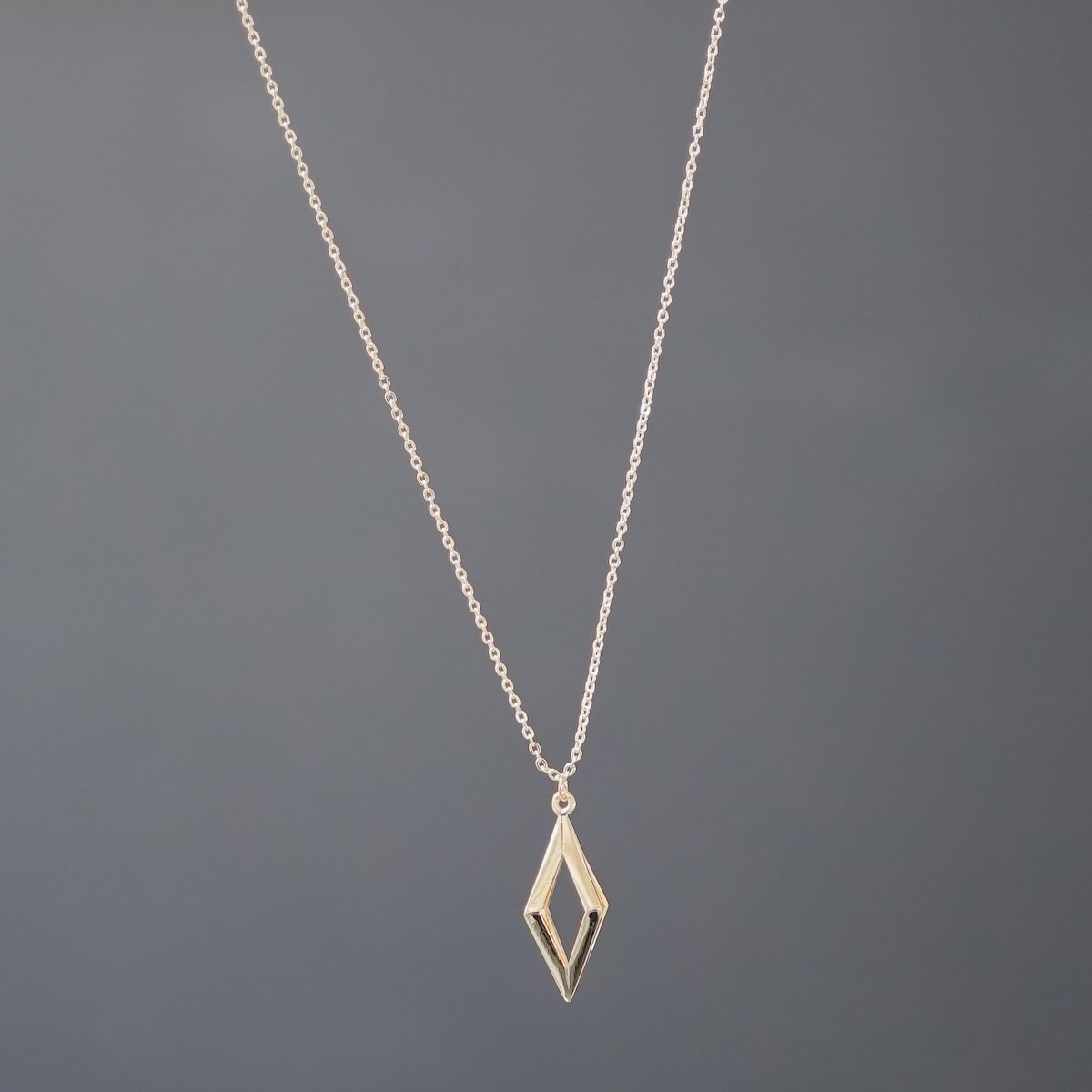 Men's Gold Prism Necklace