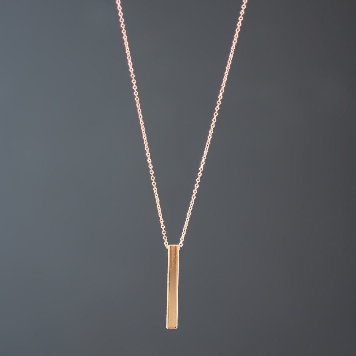 Men's Column Necklace Gold