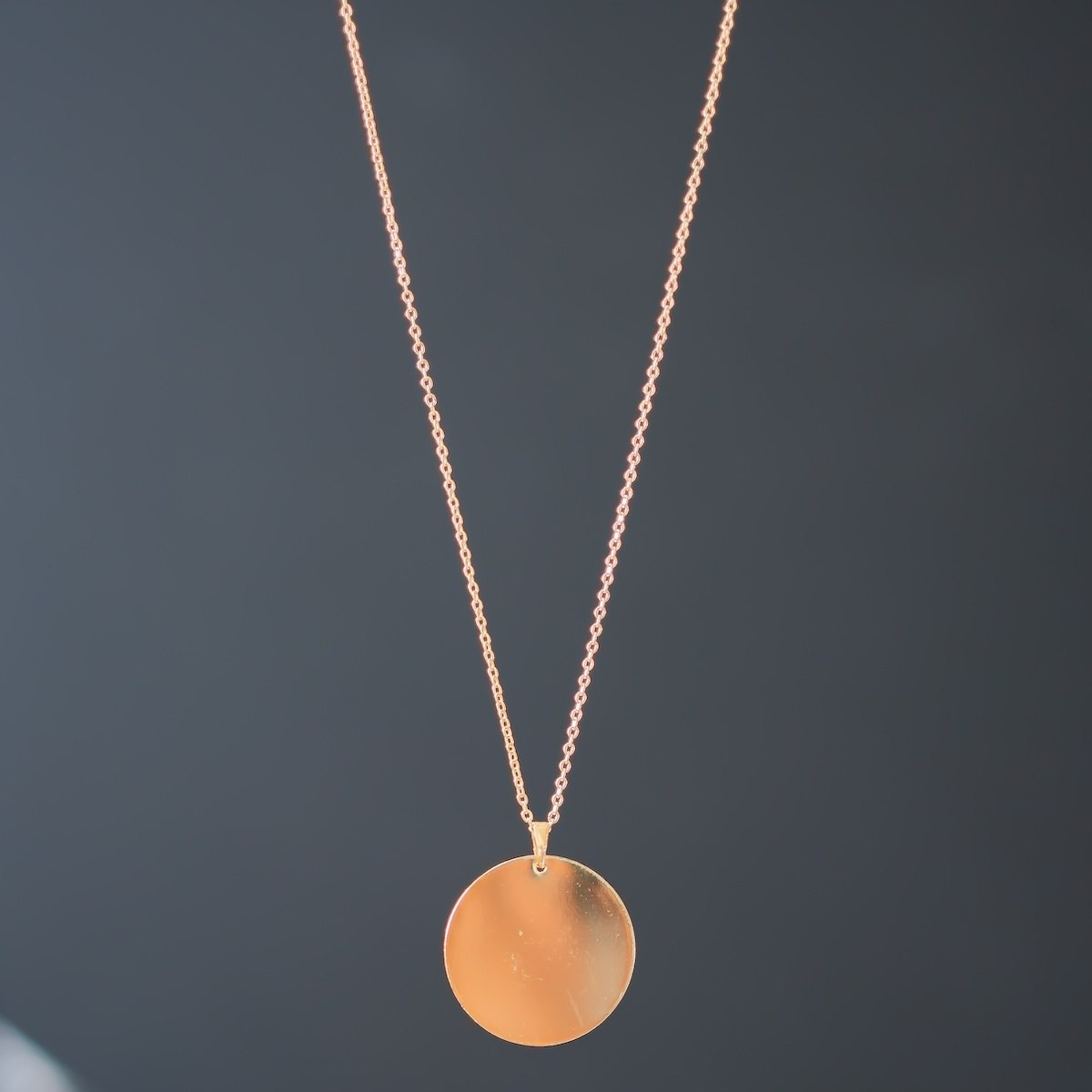 Men's Solid Circle Gold Necklace