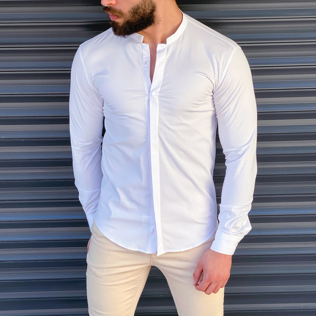 Men's Short Collared Shirt...