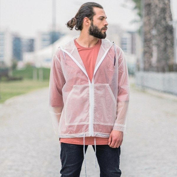 Men's Transparent Rainproof...