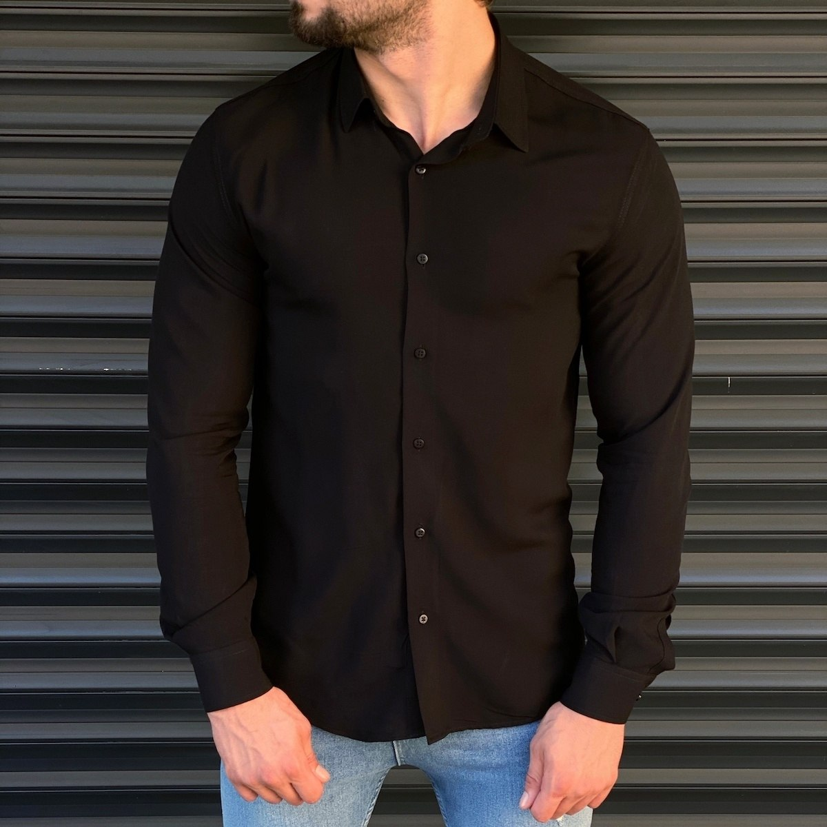 Men's Essential Shirt In Black