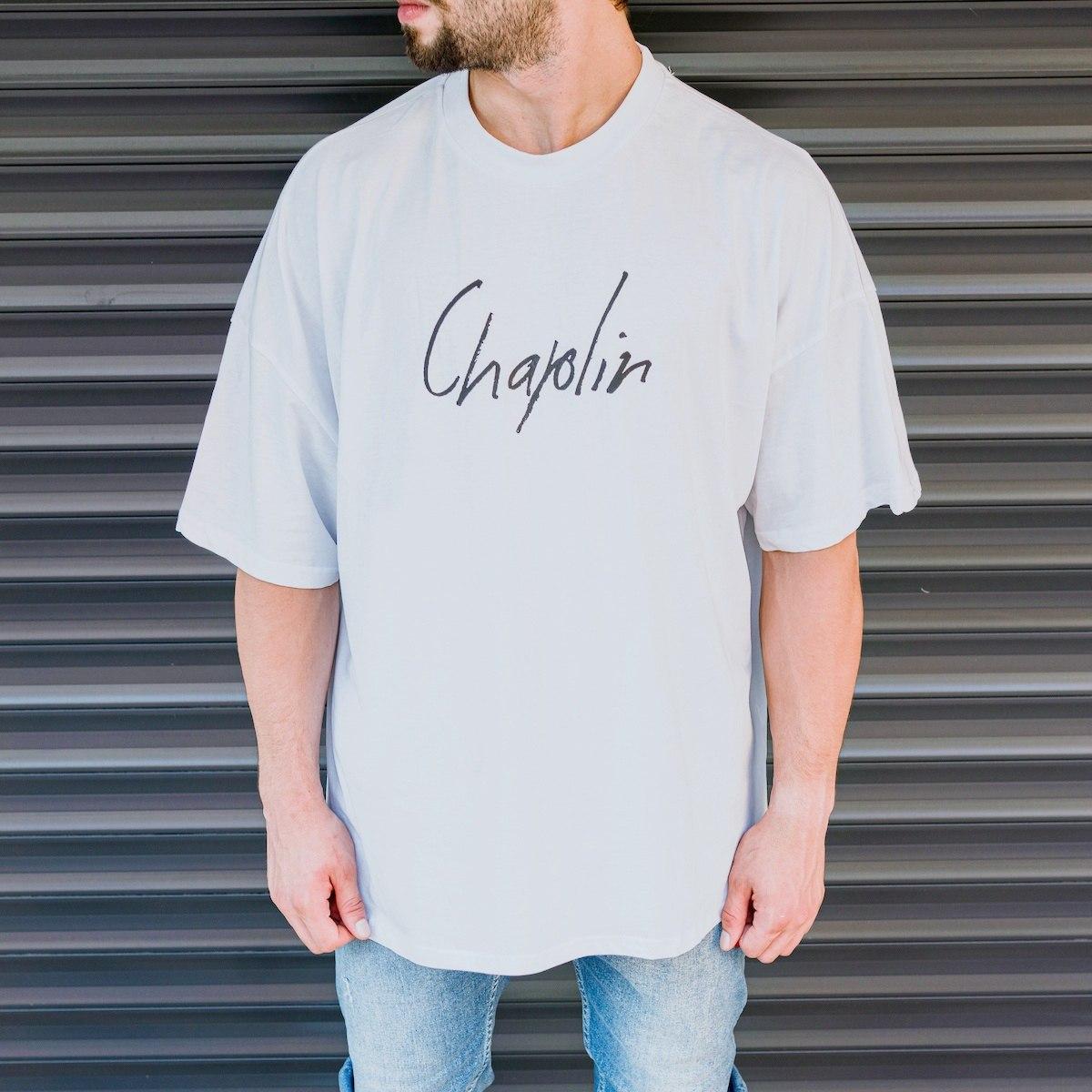 "Men's ""Chaplin"" Super Oversize T-Shirt In White"