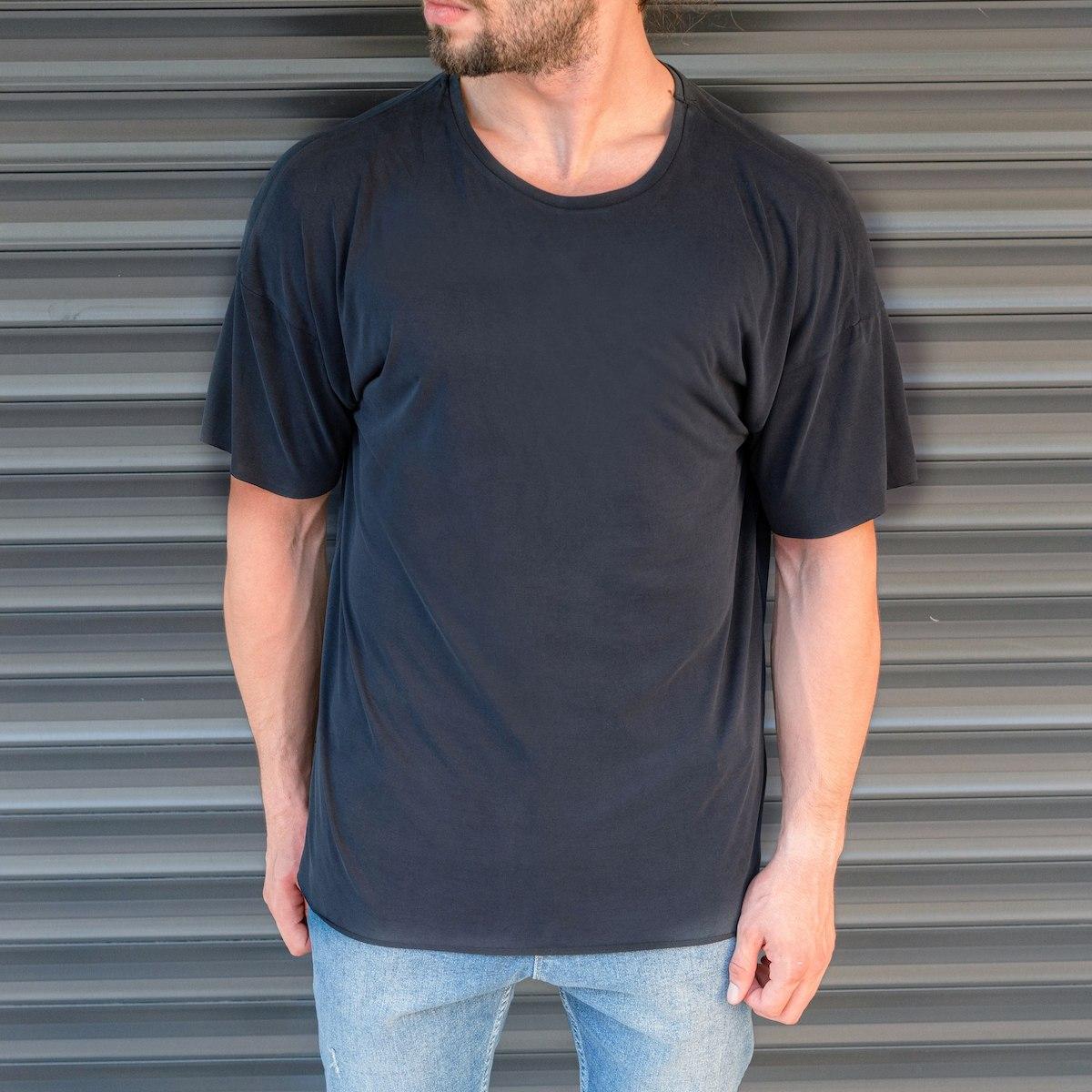 Men's Basic Oversize T-Shirt In Navy Blue