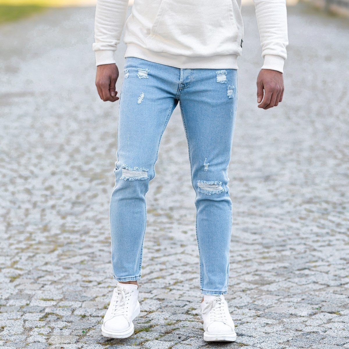 "Men's ""Grunge"" Jeans In Blue"
