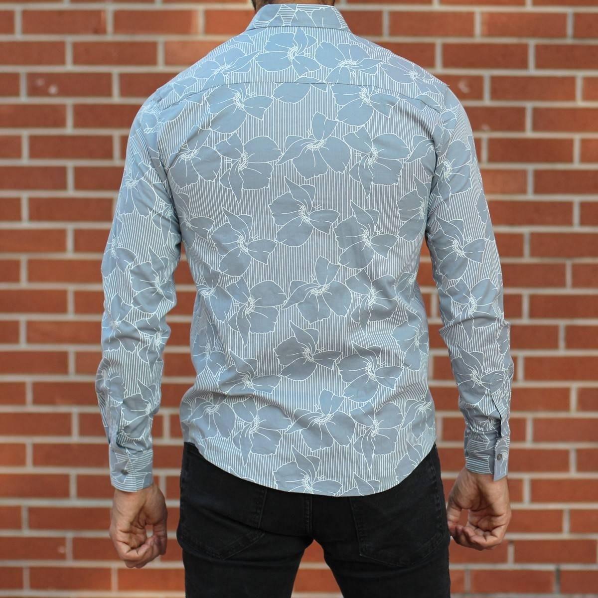 Men's Lyrca Blue&White...