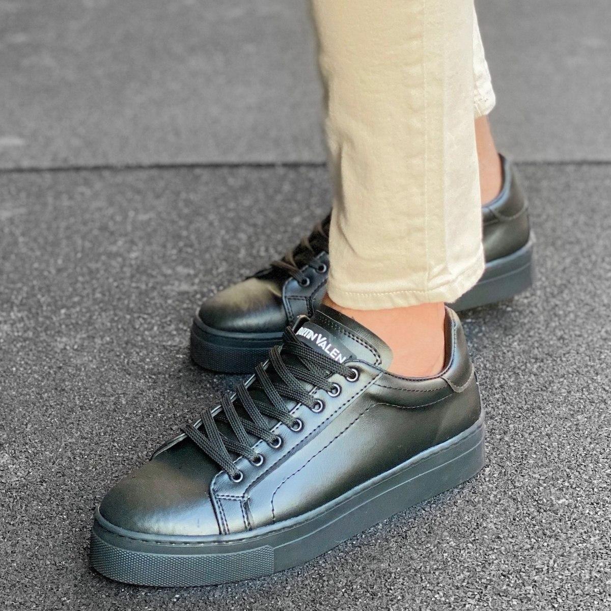Homem Cano Baixo Casual Sneakers Basket Preto