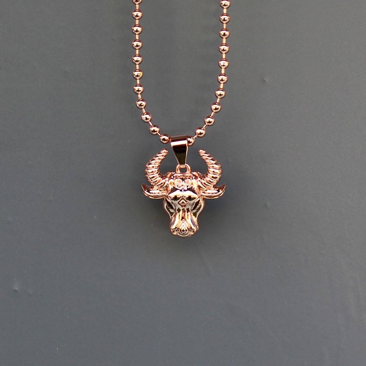 Men's Taurus Necklace Bronze
