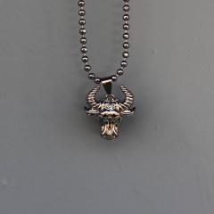Men's Taurus Necklace Black Mv Premium Brand - 1