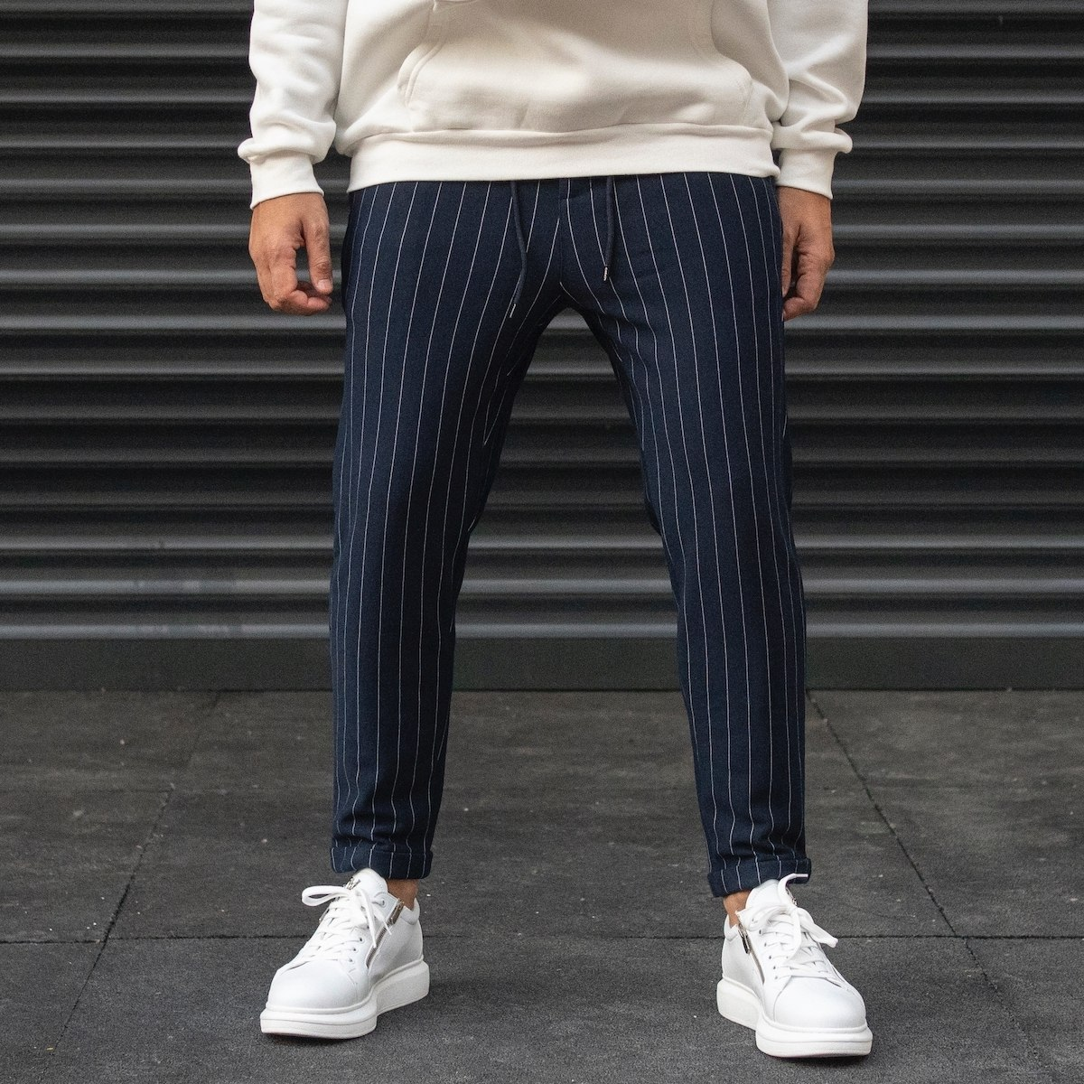 Men's Striped Trousers In...