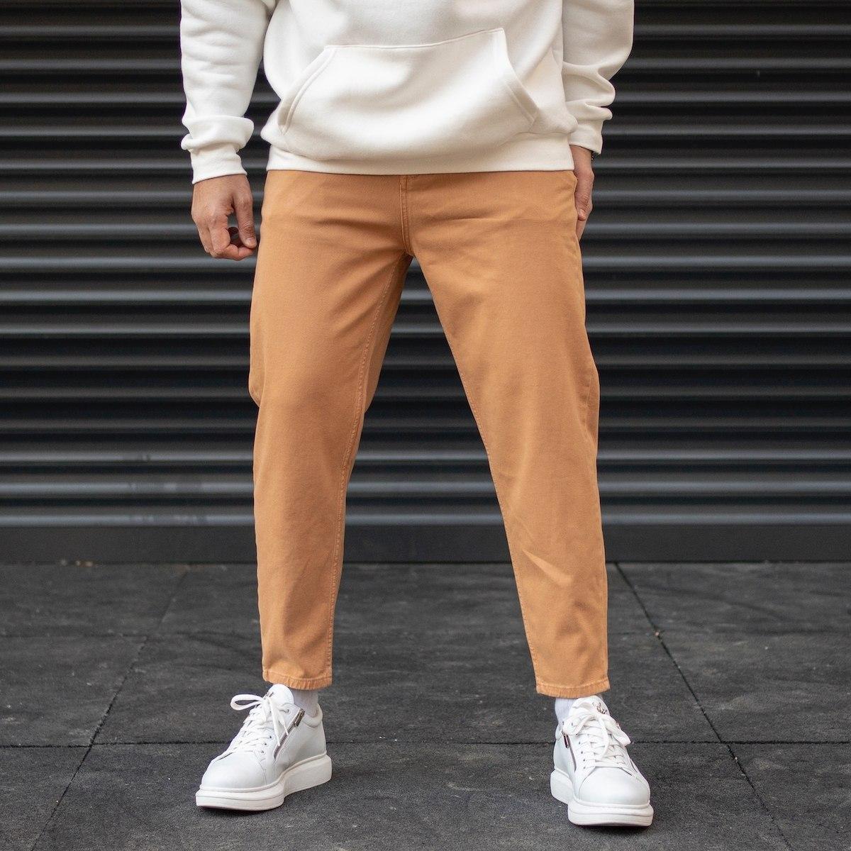 Men's Oversize Basic Boyfriend Jeans In Taupe