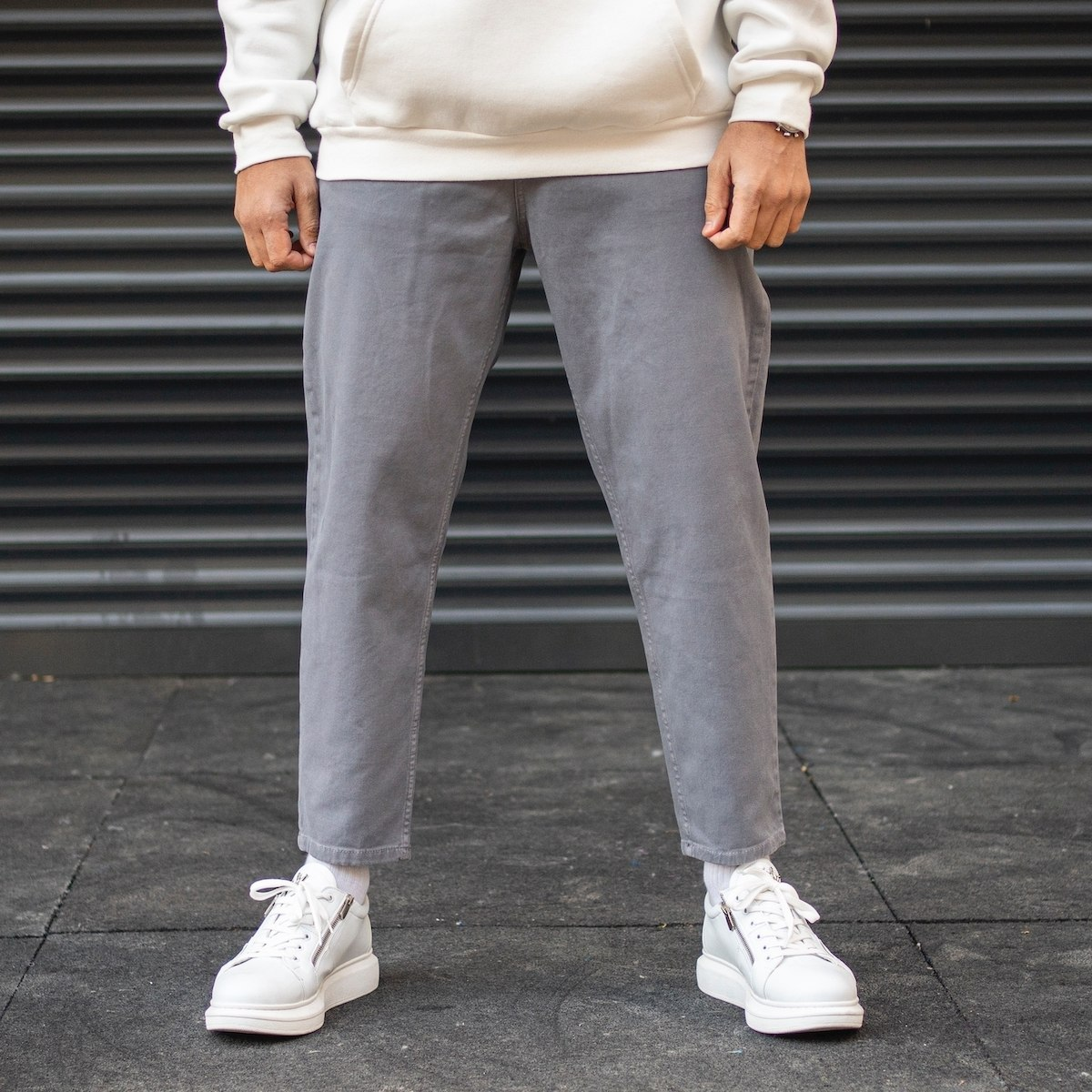 Men's Oversize Basic Boyfriend Jeans In Gray