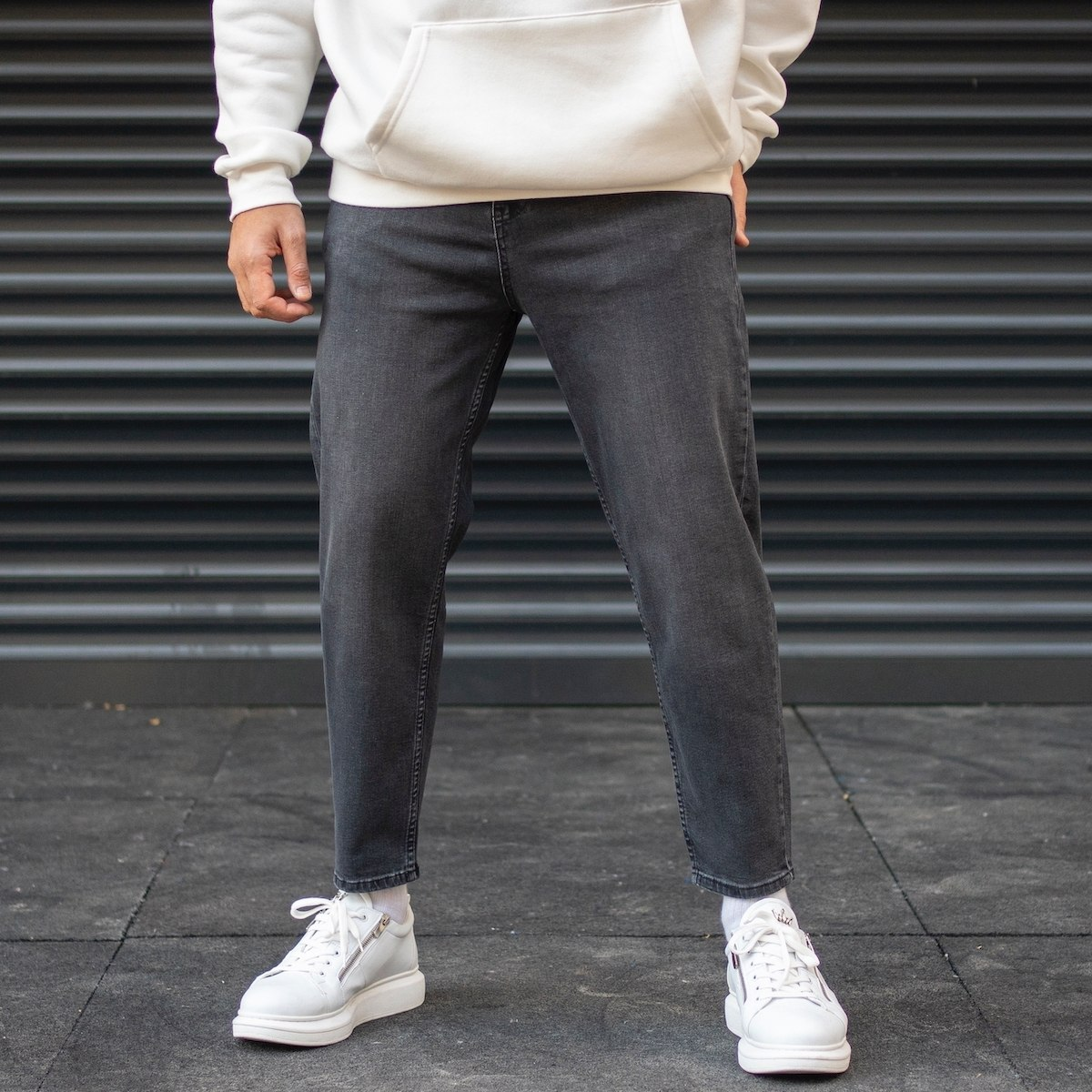 Men's Boyfriend Oversize Jeans In Fume