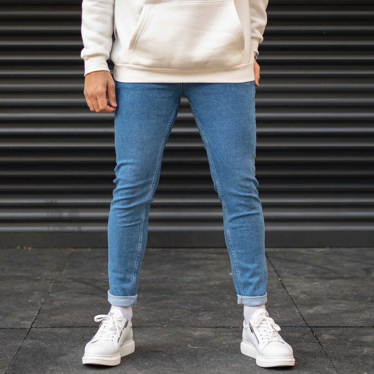 Men's Slim Fit Skinny Leg Jeans In Blue