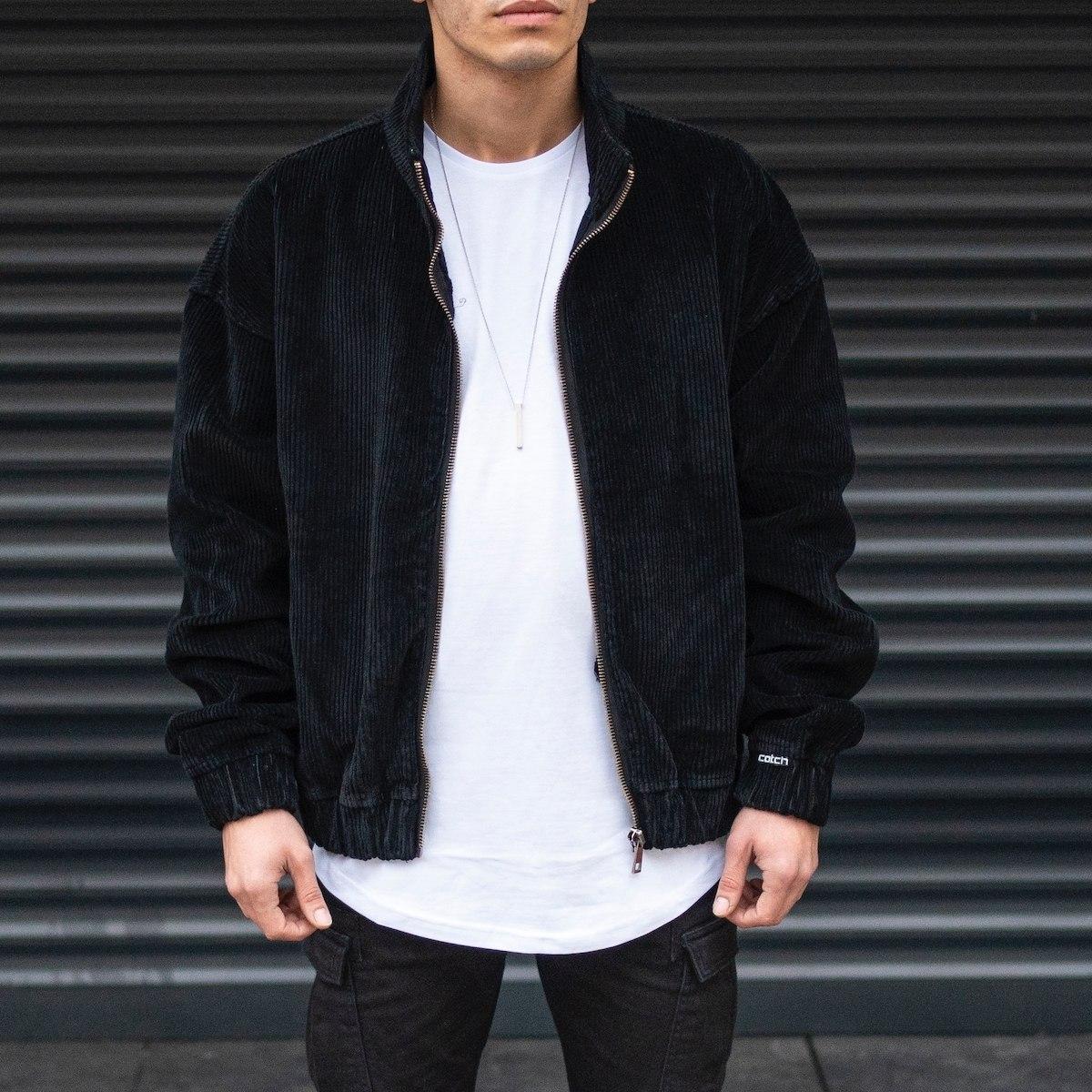 Men's Oversize Velvet Bomber Jacket