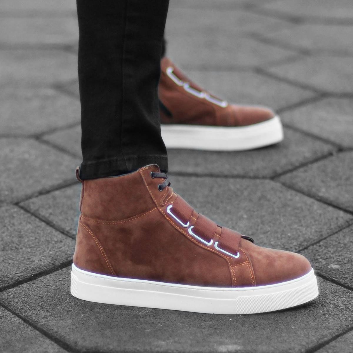 Urban Sneaker Boots in Tan...