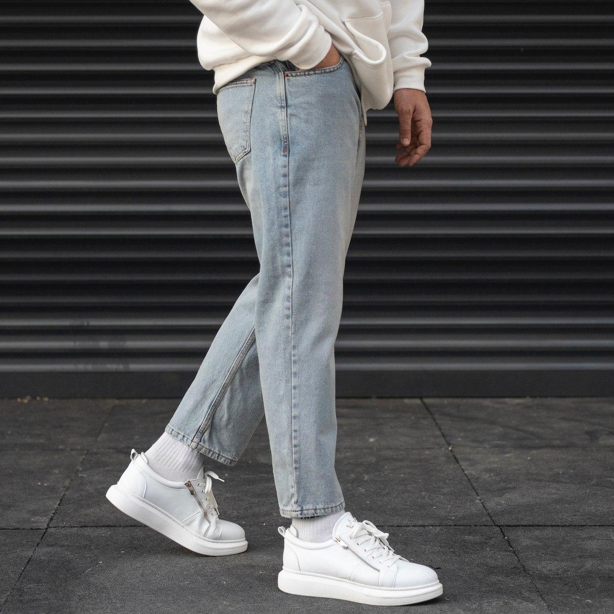 Men's Boyfriend Basic Jeans In Ice Blue