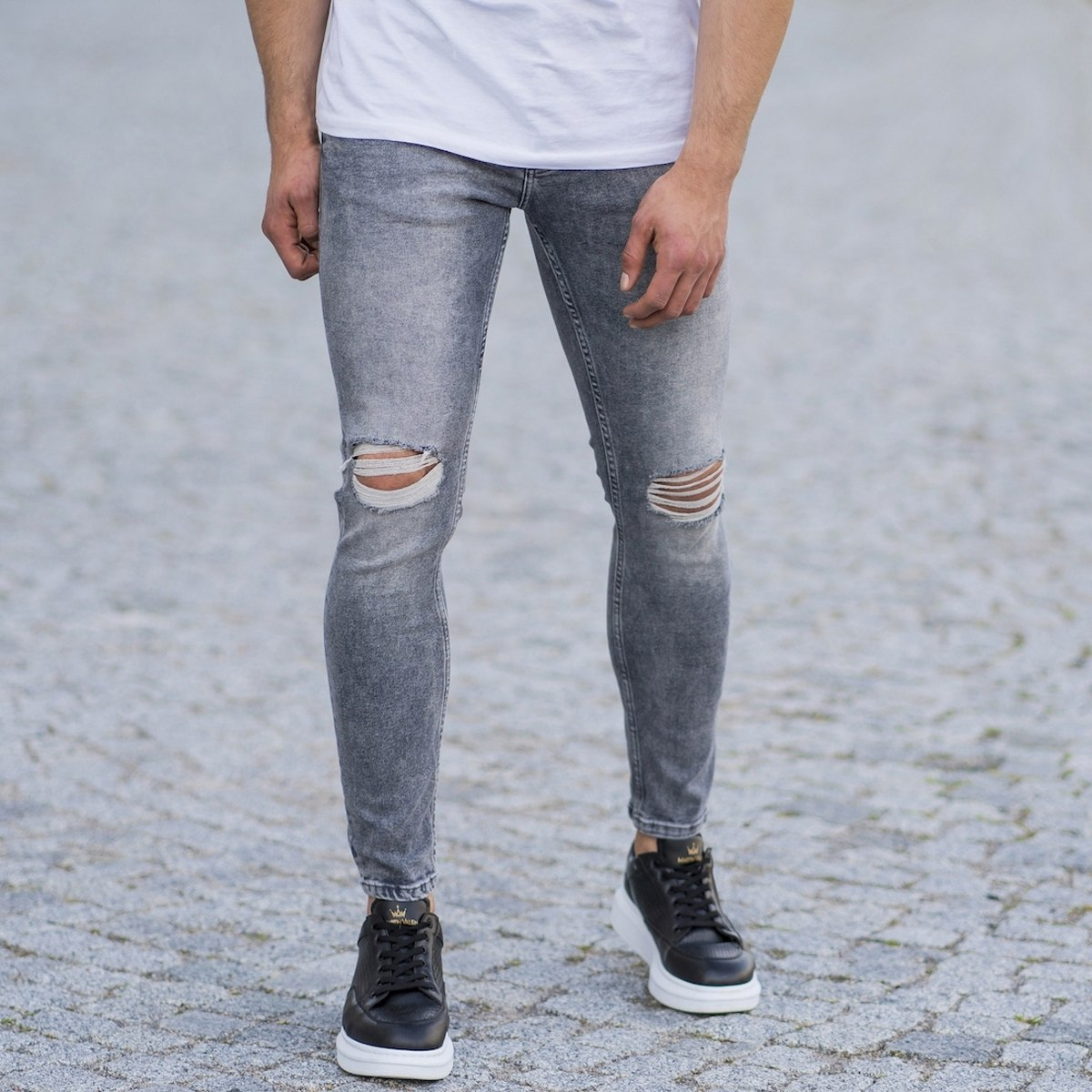 Men's Distorted Leg Skinny...