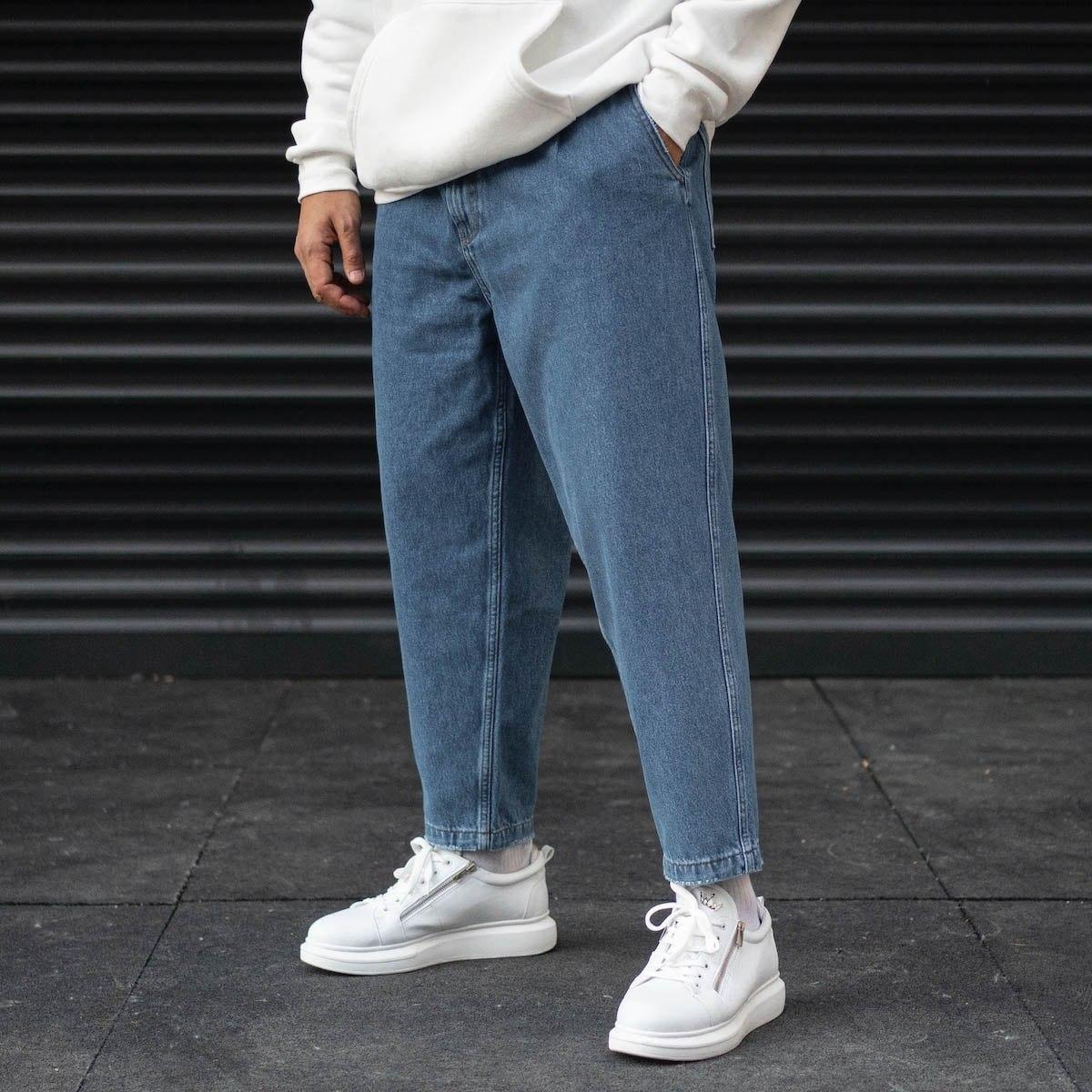 Men's Boyfriend Oversize Jeans In Blue