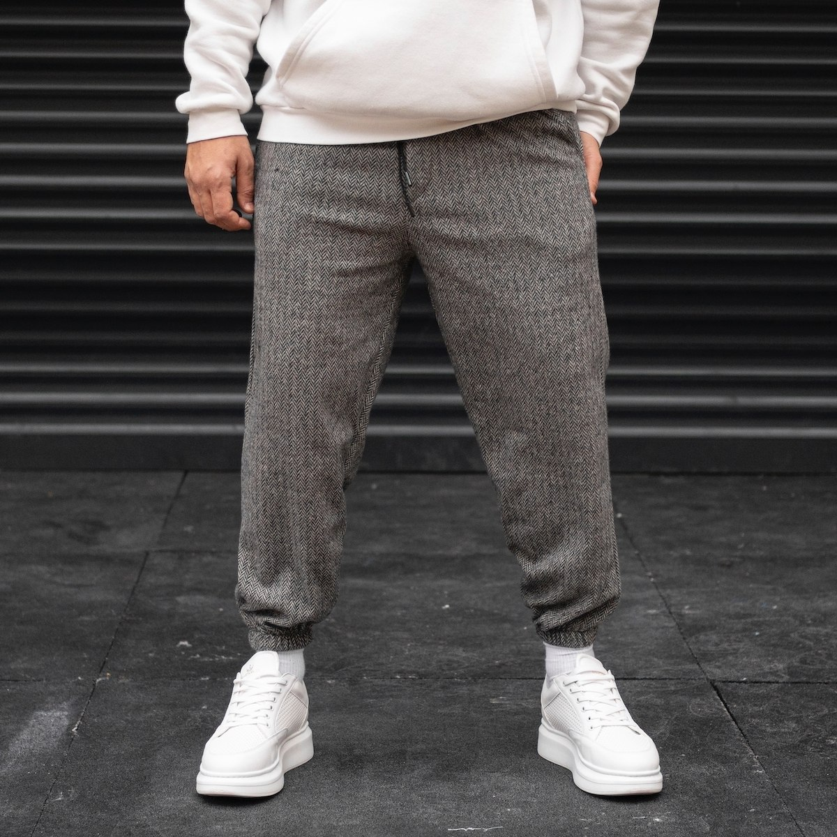 Men's Herringbone Jogger In...