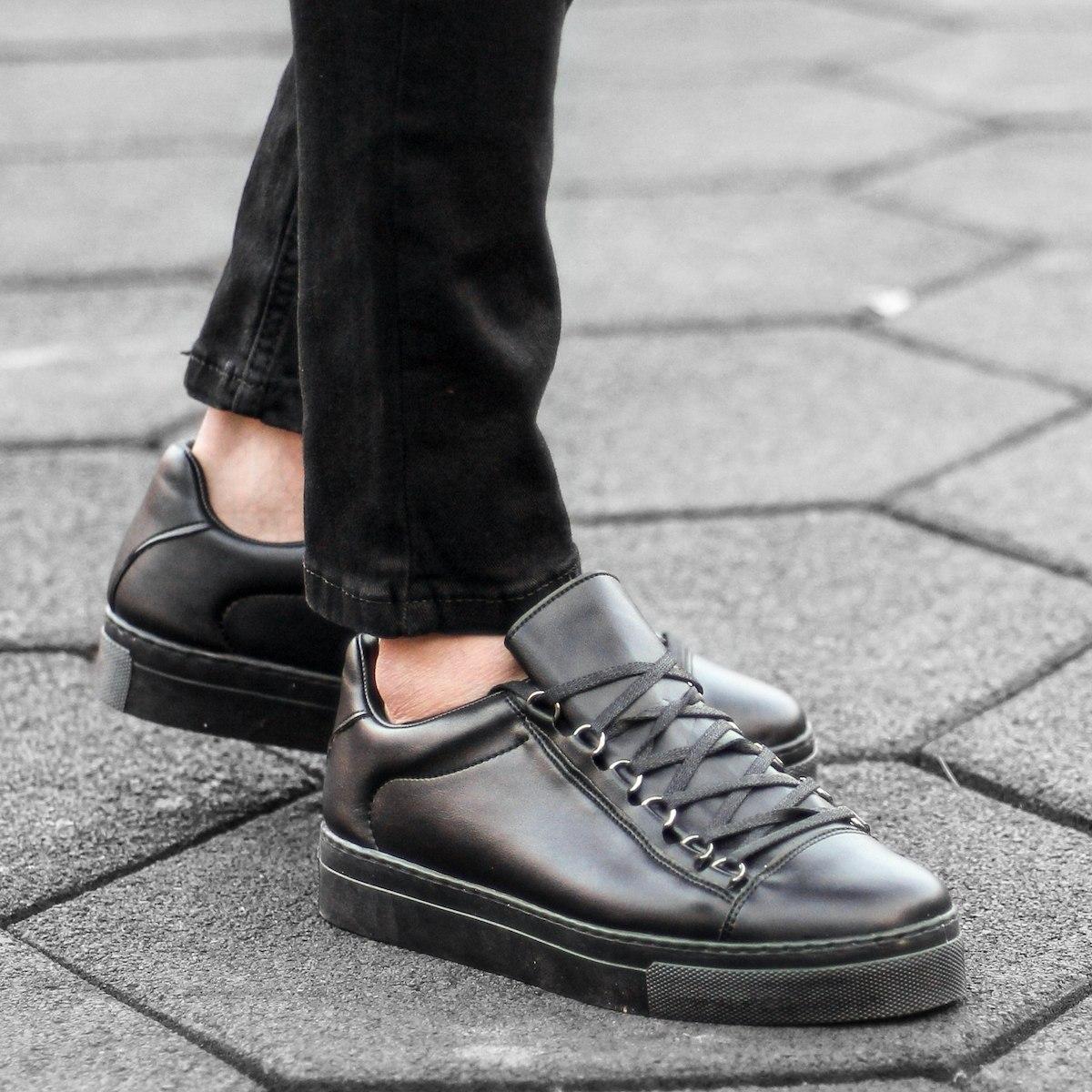 Uomo Basse Outdoor Sneakers Scarpe Nero