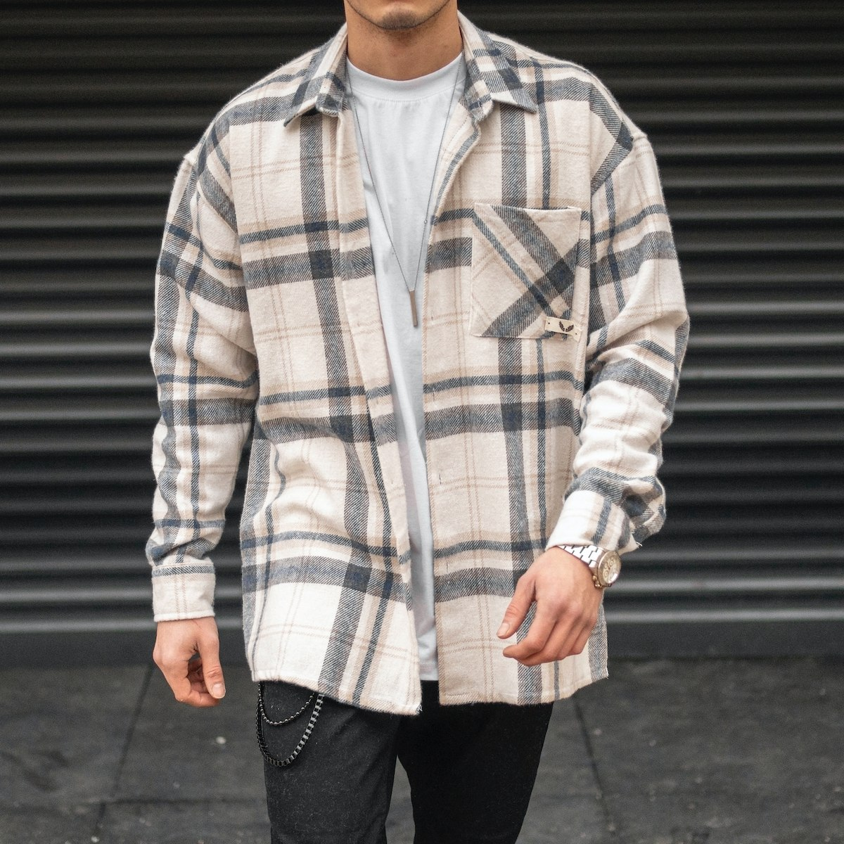 Men's Oversize Striped...