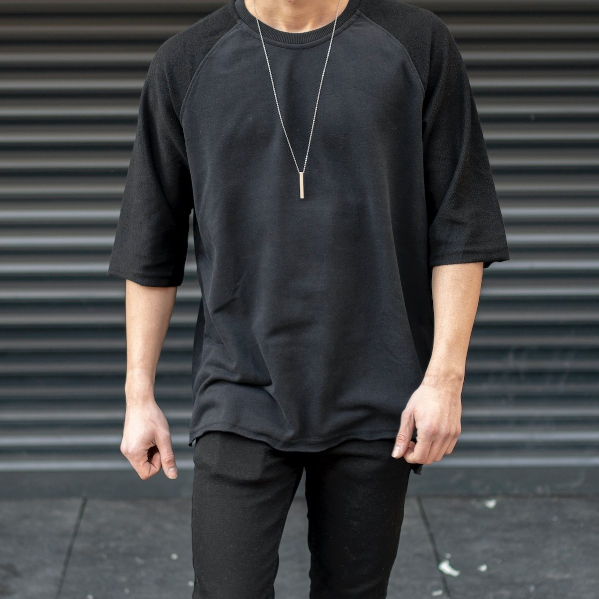 Men's Basic Long Cut Slit...