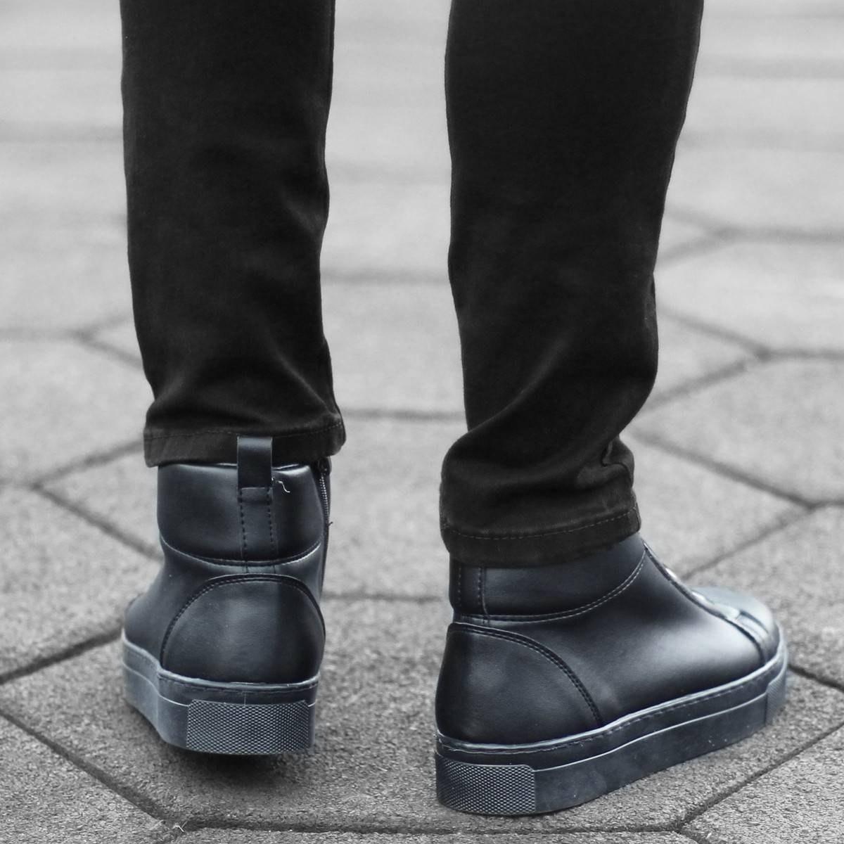 Urban Sneaker Boots in Black Mv Premium Brand - 3
