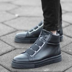 Urban Sneaker Boots in Black Mv Premium Brand - 2