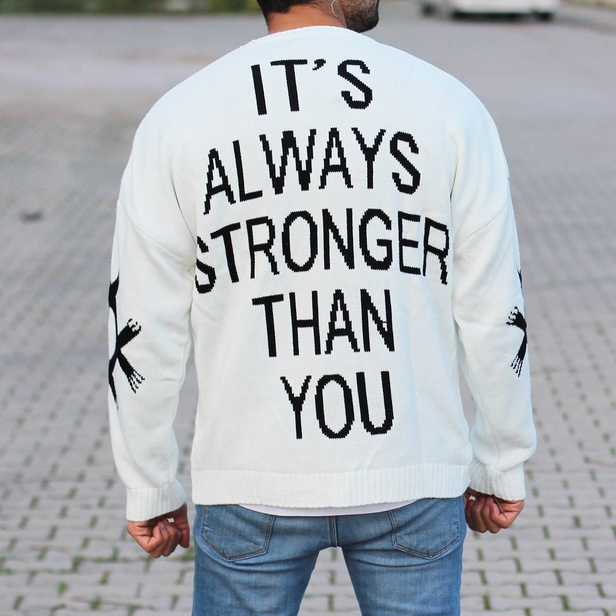 Men's Stronger Pullover White