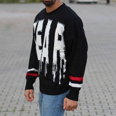 Men's Fear Pullover Black Mv Premium Brand - 2