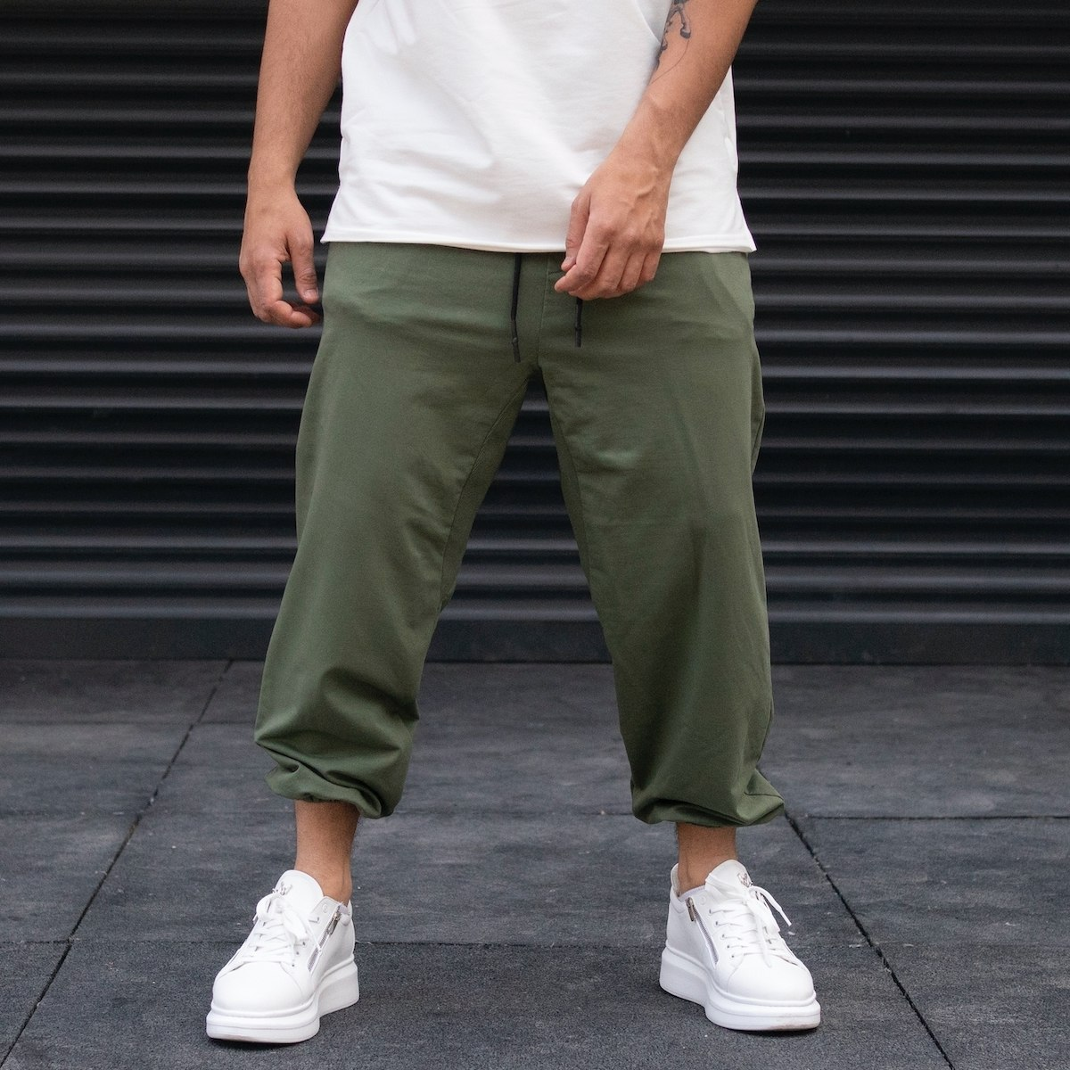 Men's Jogger Oversize Khaki Sweatpants