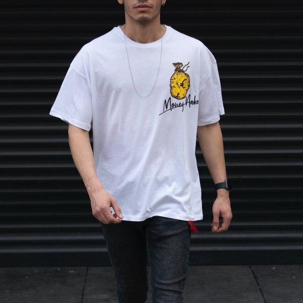 Men's Oversize T-shirt Font Designer White