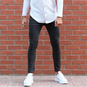 Men's Lycra Narrow Leg Jeans In Fume Mv Premium Brand - 1
