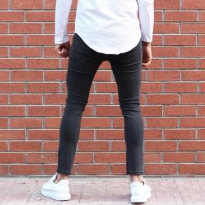 Men's Lycra Narrow Leg Jeans In Fume Mv Premium Brand - 3