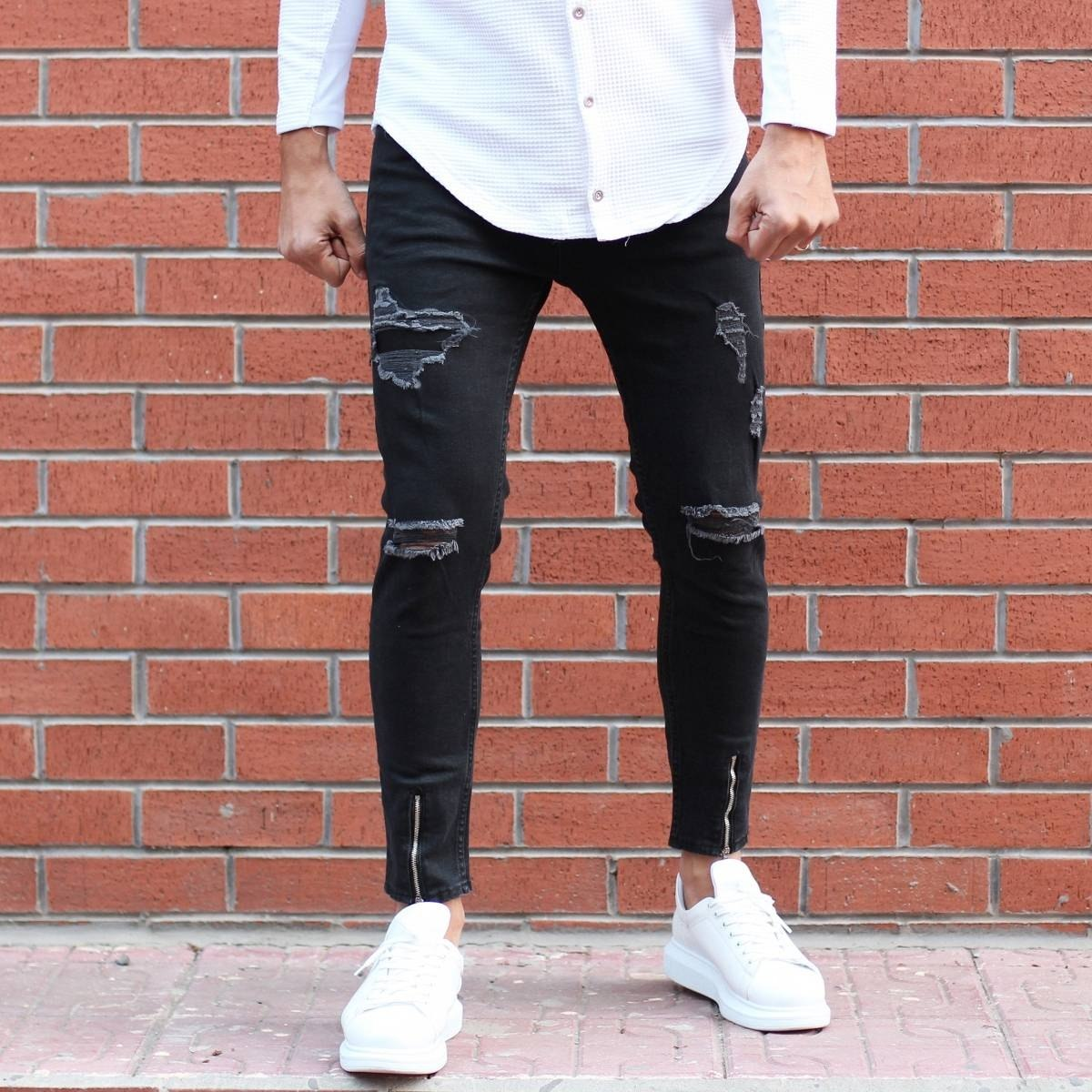 Men's Lycra Zipper Leg...