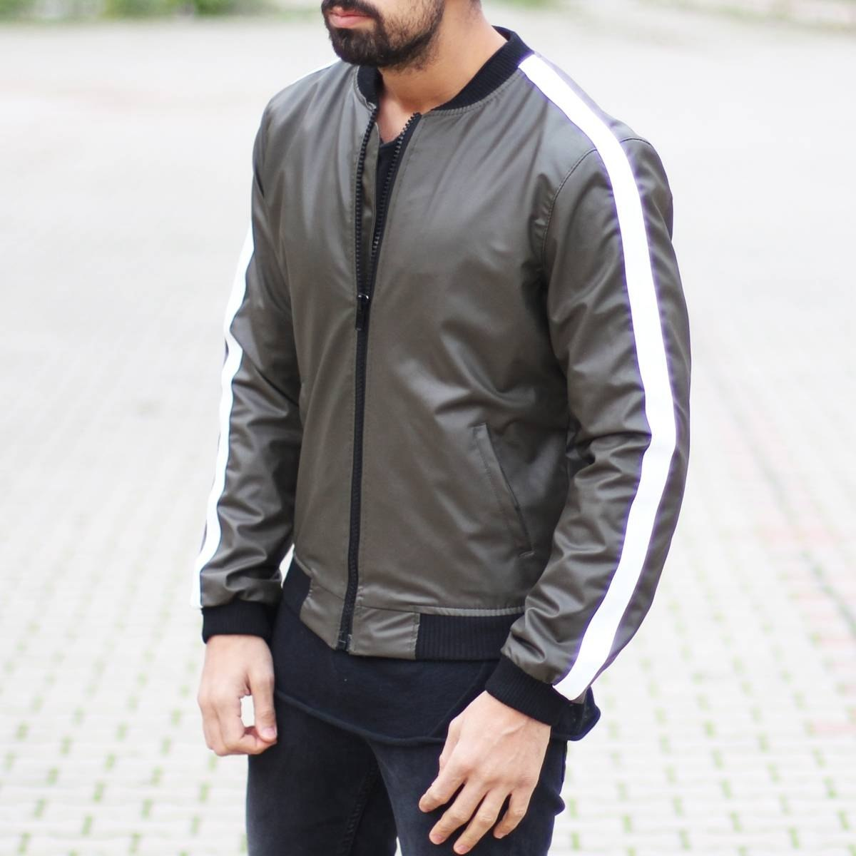 Leather Jacket with White...