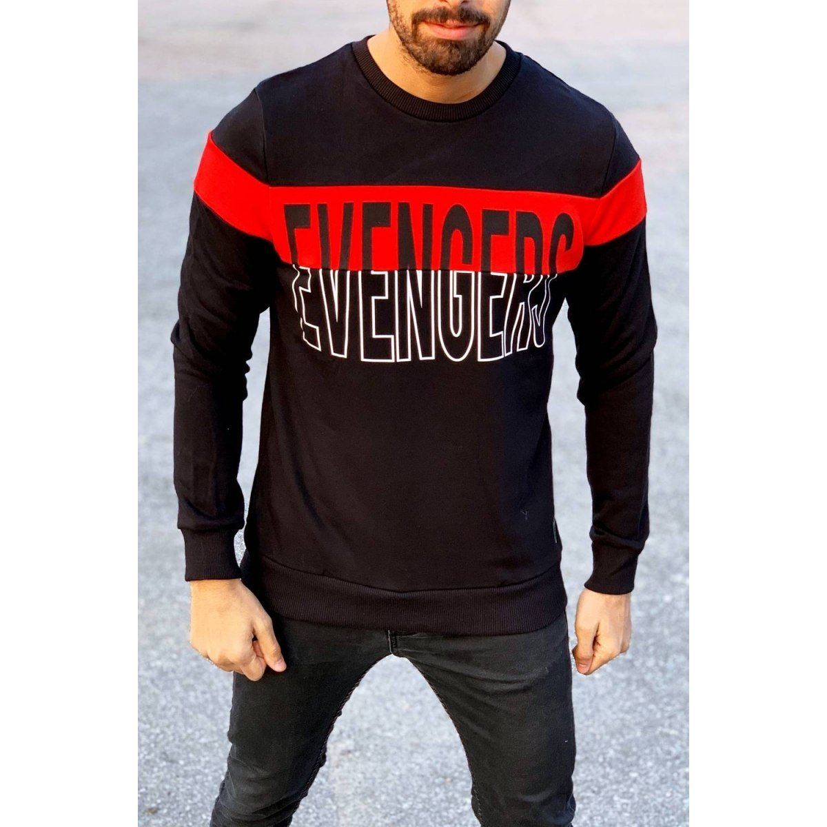 Evengers Sweatshirt in Black Mv Premium Brand - 1