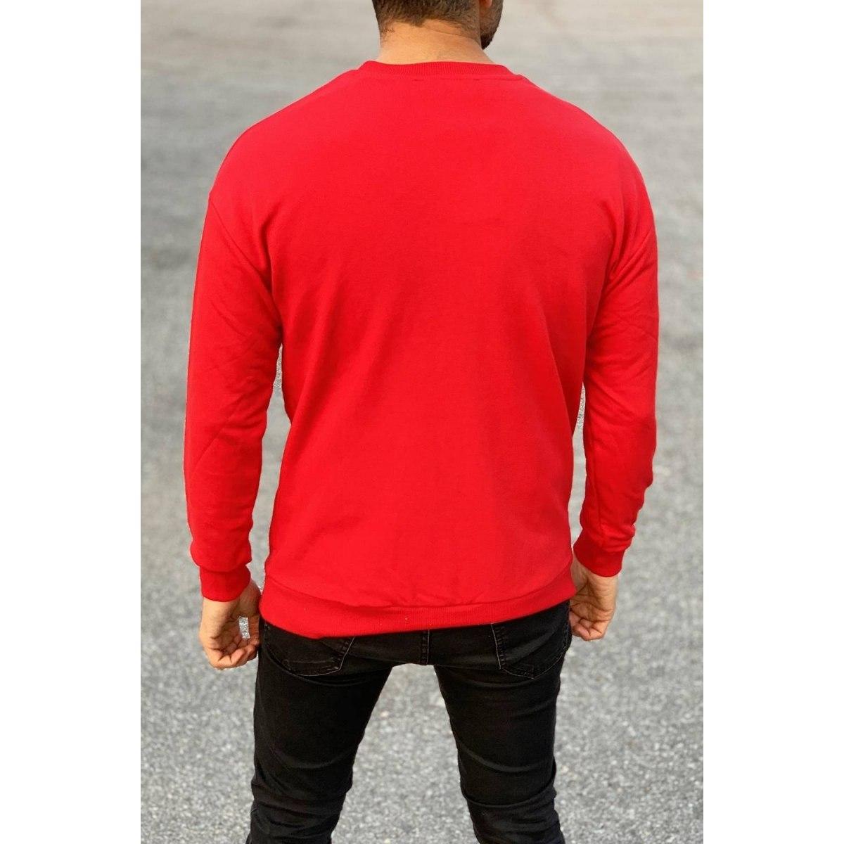 Santa Sweatshirt in Red Mv Premium Brand - 3