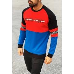 Blvck Vibes Sweatshirt in Red&Blue Mv Premium Brand - 2