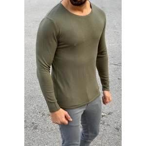 Men's Basic Spring Sweatshirt In Khaki Mv Premium Brand - 2