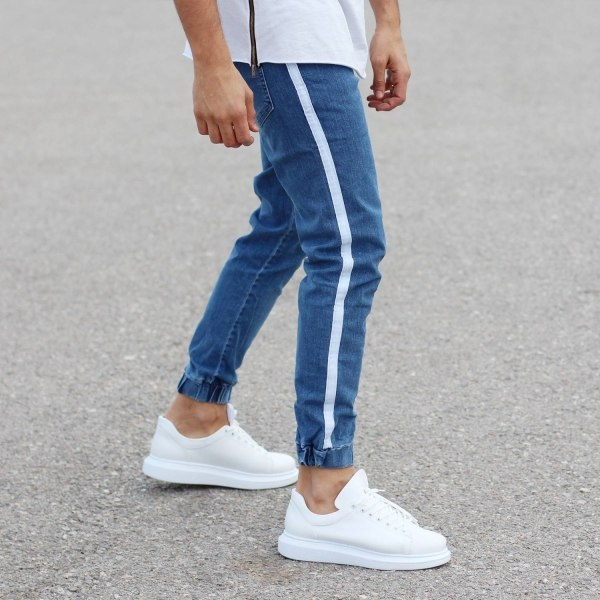 Blue Jeans With White...