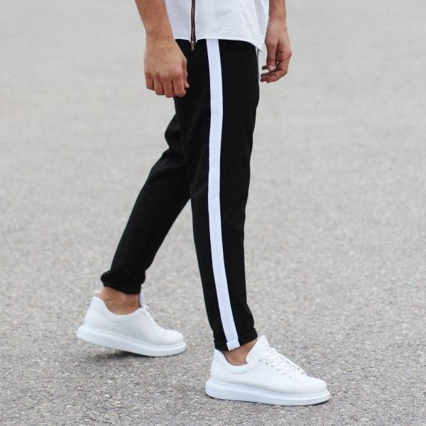 Black Sweat-Pants With...